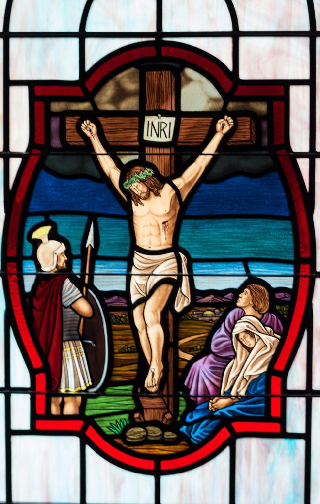 Stained Glass Crucifix
